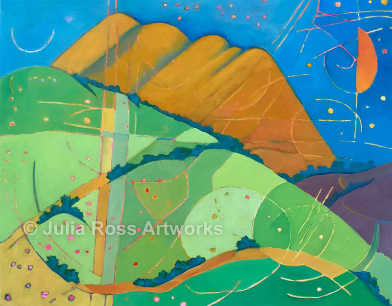 Black Mountain from Bolinas Ridge - Julia Ross Artworks