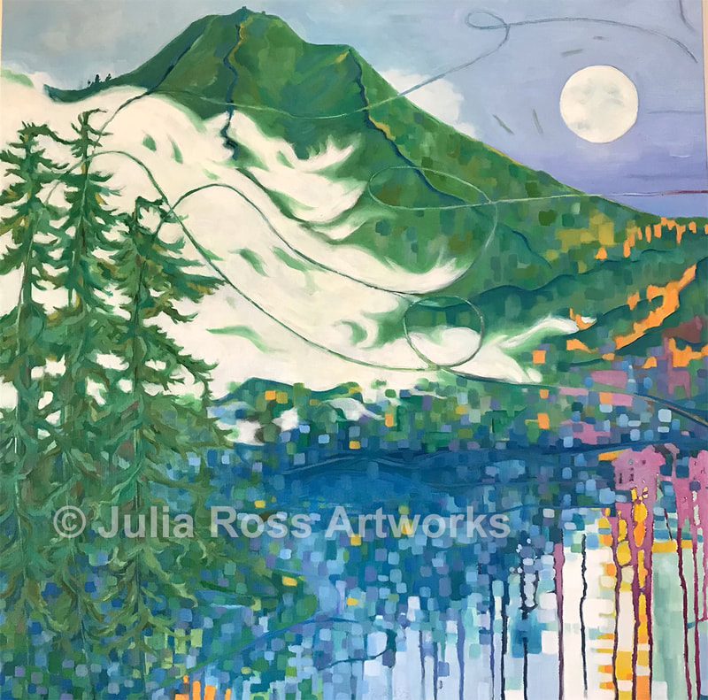 Blue Moon, October Evening - Julia Ross Artworks