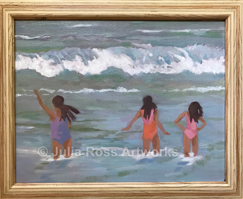 Girls in the Surf - Julia Ross Artworks