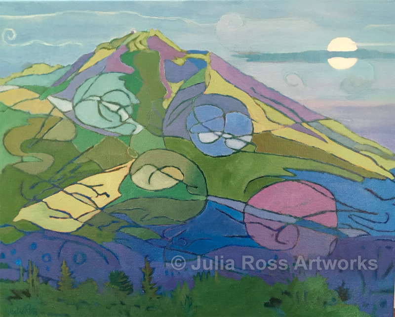 Mt. Tam Moon - Julia Ross Artworks