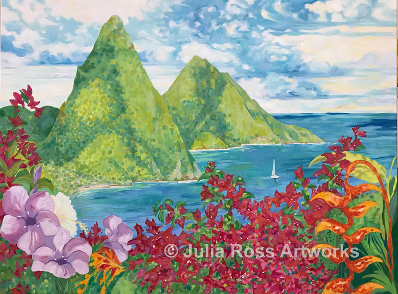 St. Lucia - Julia Ross Artworks
