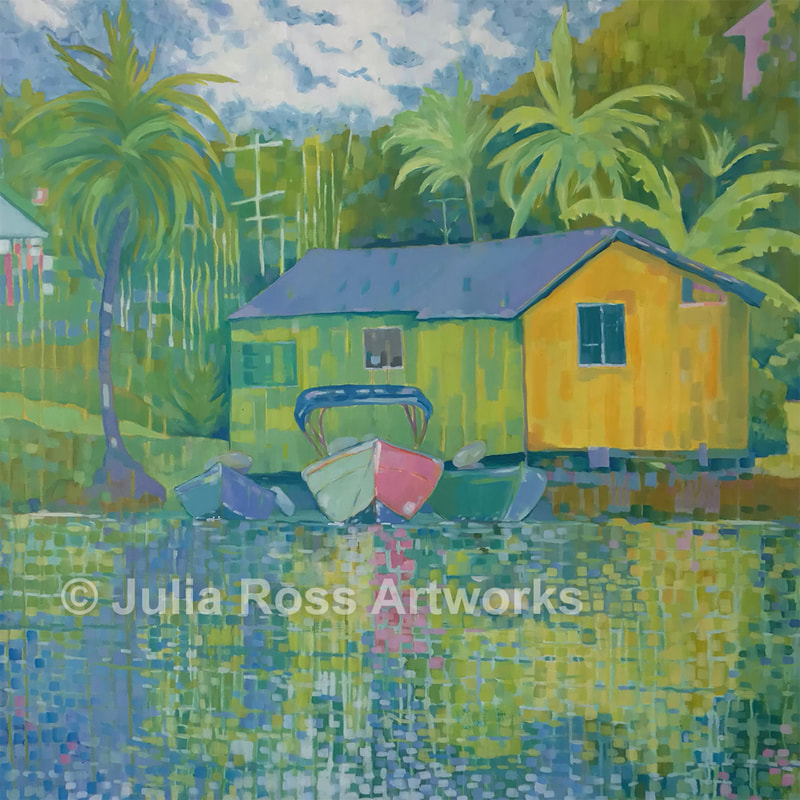 Three Boats, St. Lucia - Julia Ross Artworks