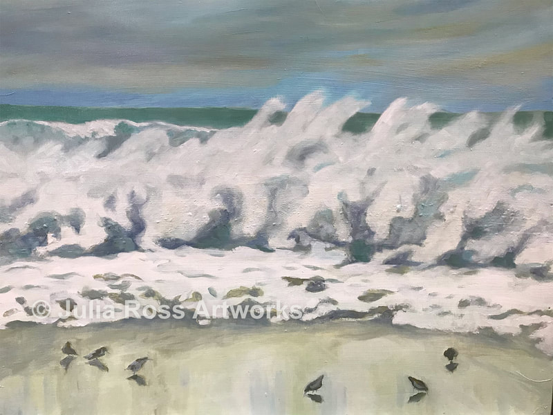 Windy, Drake's Beach - Julia Ross Artworks